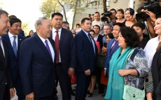 Inspection of reconstructed streets and square in Almaty